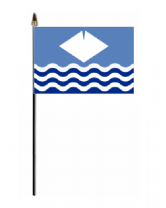 Isle of Wight Hand Flag - Small.